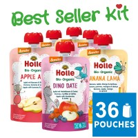 36x Holle Fruit Pouchy Best Seller Kit