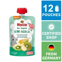 12x Holle Fruit Pouches - Kiwi Koala - Pear & Banana with Kiwi