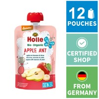 12x Holle Fruit Pouches - Apple Ant - Apple with Banana & Pear