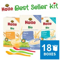 18x Holle Cereal & Porridge Best Seller Kit